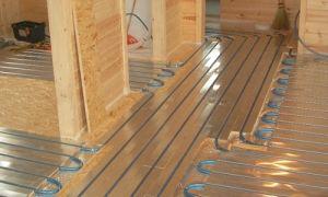 Электрический теплый пол в деревянном доме