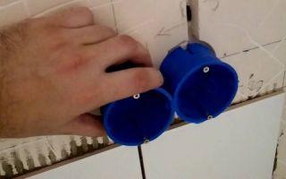 Простые способы установки подрозетников