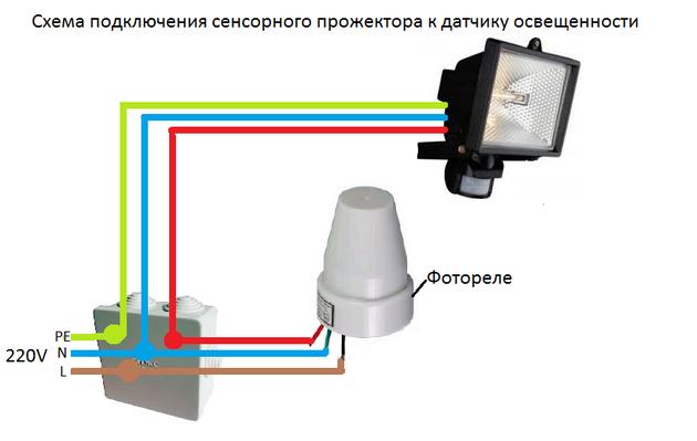 Схема подключения фотореле