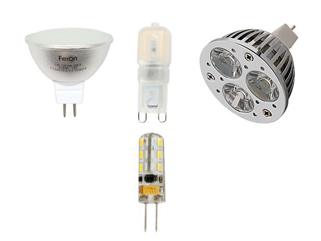 Разные типы светодиодных ламп