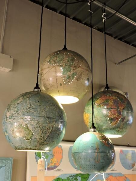 Люстры глобусы