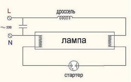 Схема подключения ЛС