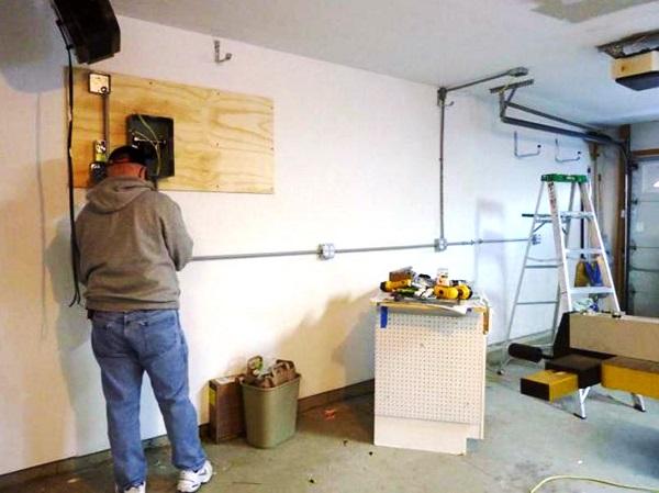 Проводка в гараже своими руками видео 712
