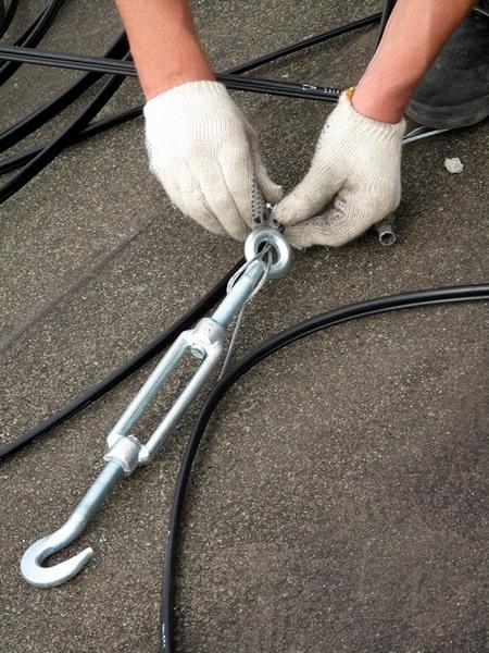 Натяжка кабеля