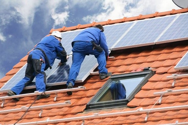Установка солнечных батарей 9