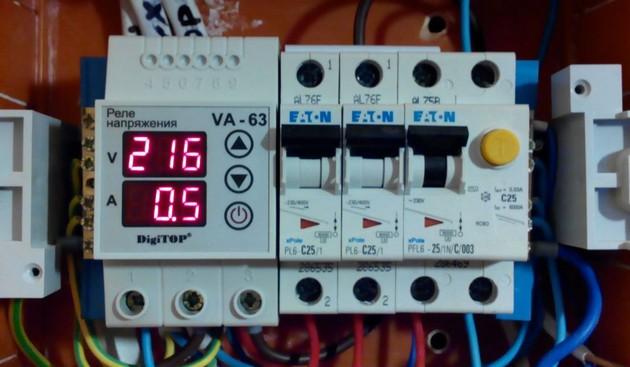 Скачки напряжения в электросети 8