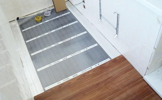 Электрический теплый пол в деревянном доме 8