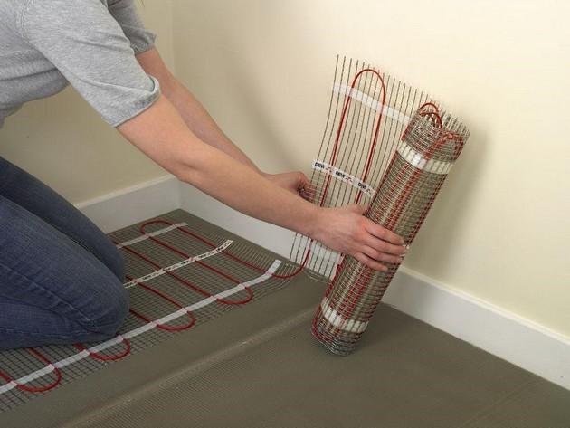 Теплый пол электрический под плитку как делать монтаж правильно