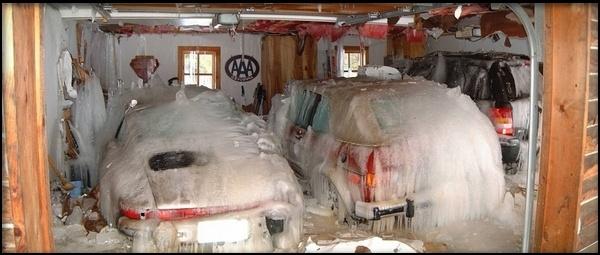 немного прохладно в гараже