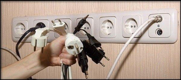 кабеля питания множества потребителей