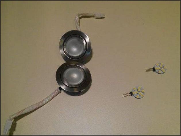 используемые лампы в некоторых моделях вытяжек