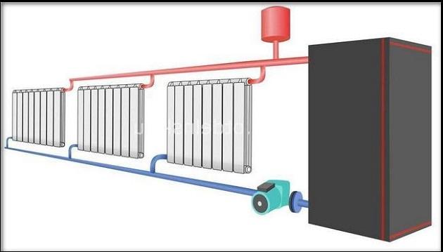 Более точная и технически правильная схема системы отопления