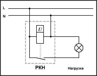 Типовая схема подключения через релейные контакты