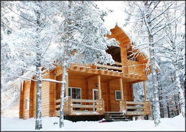 теплый дом зимой
