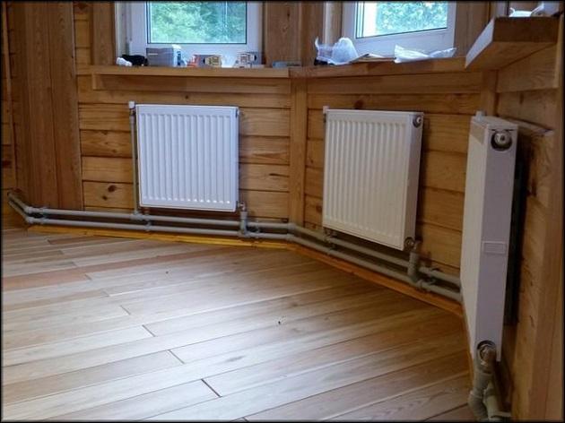 размещение радиаторов по всему периметру комнаты