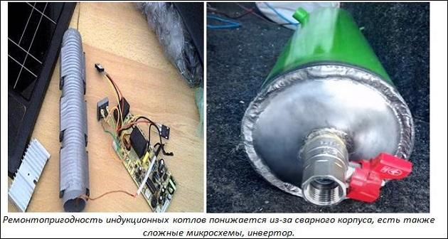 ремонтопригодность индукционного котла