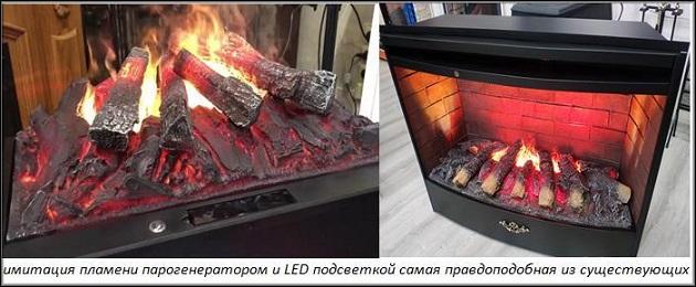 варианты имитации огня