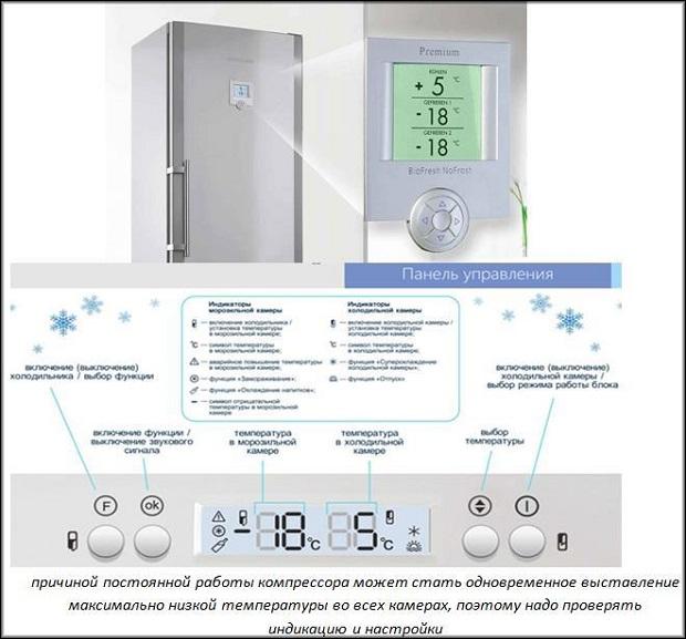 функционирование холодильника