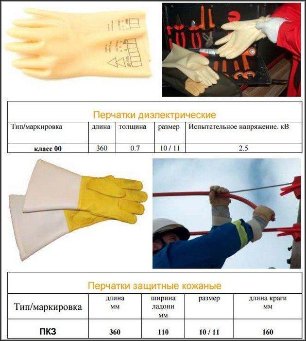 Диэлектрические перчатки 2