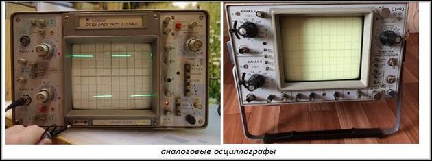 аналоговые осциллографы