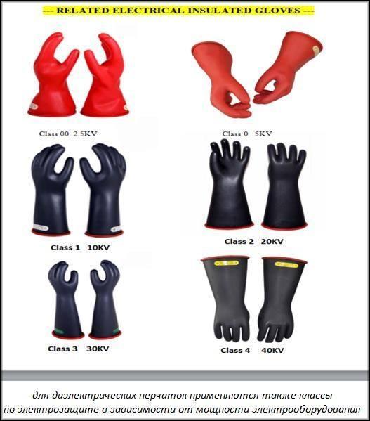 классы диэлектрических перчаток