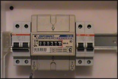 подключение автомата к счетчику