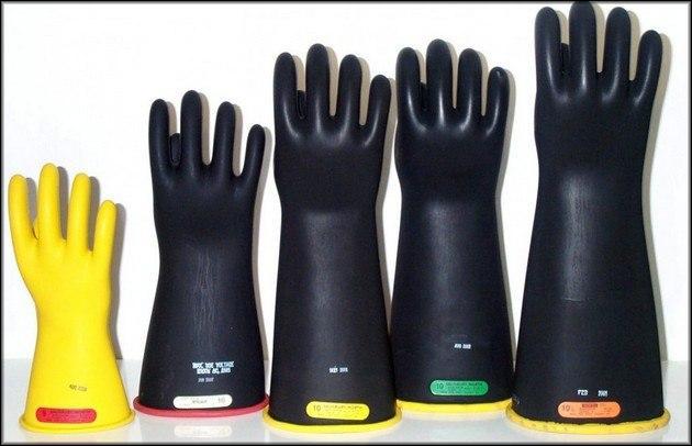 Диэлектрические перчатки 10