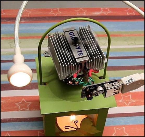 генератор, использующий тепло для питания слабого потребителя