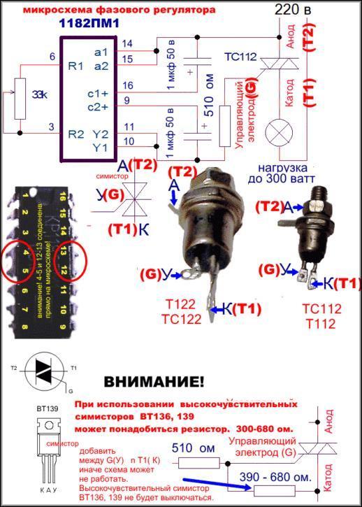 микросхема фазового регулирования