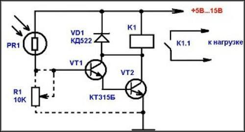 Транзисторное фотореле