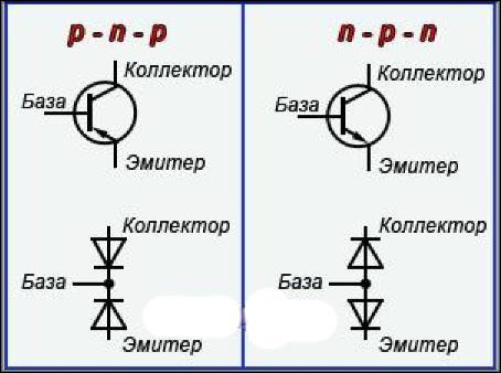npn, pnp транзисторы