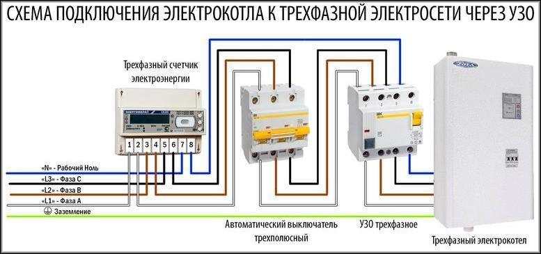 схема трёхфазного аппарата для 3-фазного оборудования